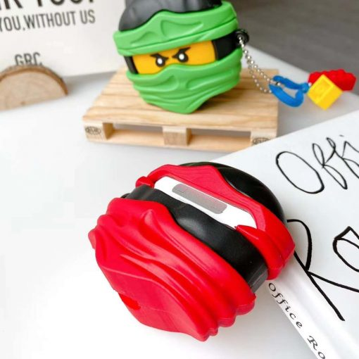 Lego Man 'Ninja | Red' Premium AirPods Case Shock Proof Cover