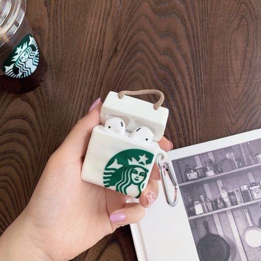 Classic Starbucks Shopping Bag Premium AirPods Case Shock Proof Cover