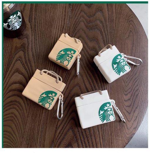 Classic Starbucks Shopping Bag Premium AirPods Pro Case Shock Proof Cover