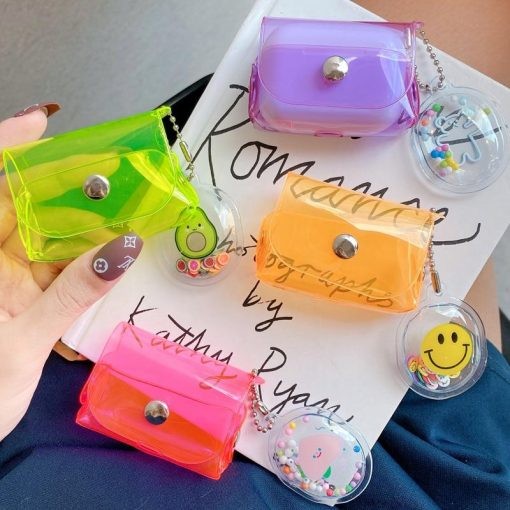 Clear Fluorescent Candy Color Holster AirPods Pro Case