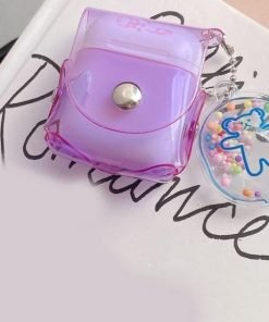 Clear Fluorescent Candy Color Holster AirPods Case