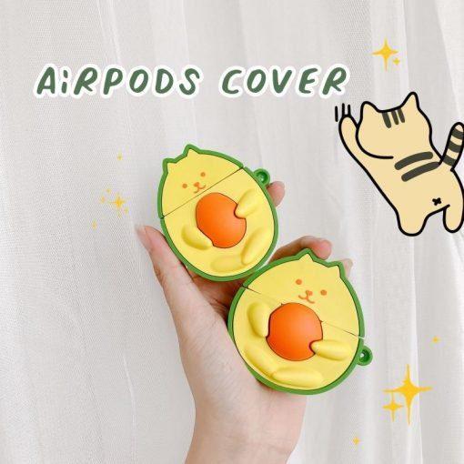 Avocado Cat Premium AirPods Case Shock Proof Cover
