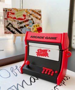 Retro 90s Arcade Game 'Street Fighter' Premium AirPods Pro Case Shock Proof Cover