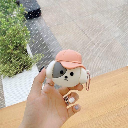 Cute Puppy 'Cap' Premium AirPods Case Shock Proof Cover