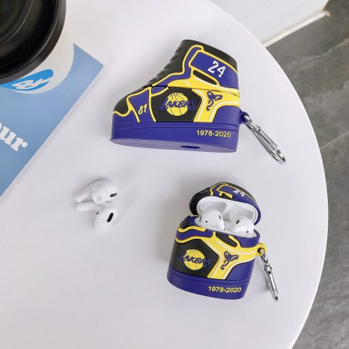 Basketball 'Lakers   24   Sneaker' Premium AirPods Case Shock Proof Cover