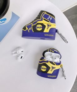 Basketball 'Lakers   24   Sneaker' Premium AirPods Pro Case Shock Proof Cover