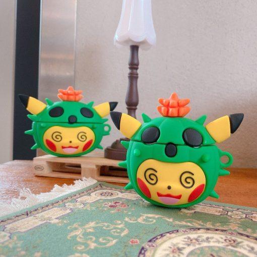 Pokemon 'Pikachu | Cacnea' Premium AirPods Case Shock Proof Cover