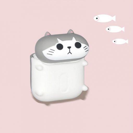 Cute Walking Cat Premium AirPods Case Shock Proof Cover