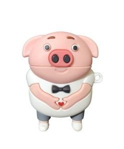 Pig with Bow Tie Premium AirPods Case Shock Proof Cover