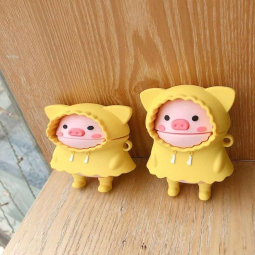 Pig in a Raincoat Premium AirPods Case Shock Proof Cover