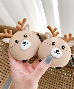 Cute Round Reindeer Premium AirPods Pro Case Shock Proof Cover