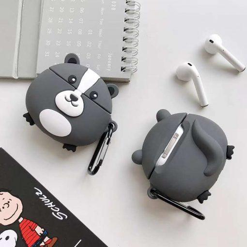 Cute Round Skunk Premium AirPods Case Shock Proof Cover