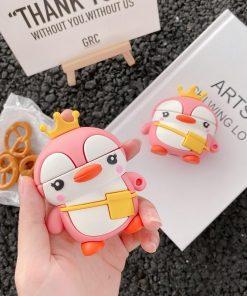 Cute Traveling Penguin Premium AirPods Case Shock Proof Cover