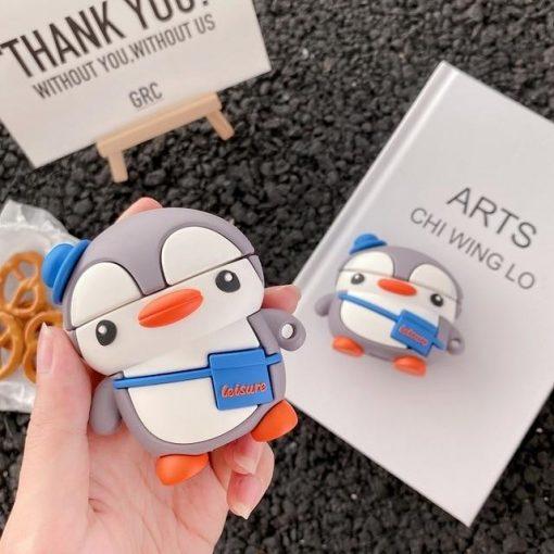 Cute Traveling Penguin Premium AirPods Pro Case Shock Proof Cover