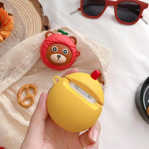 Cute Kid in a Chicken Costume Premium AirPods Pro Case Shock Proof Cover