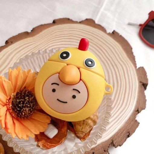 Cute Kid in a Chicken Costume Premium AirPods Case Shock Proof Cover