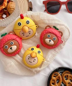 Cute Bear in a Lychee Costume Premium AirPods Pro Case Shock Proof Cover