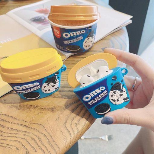 Oreo Ice Cream Premium AirPods Case Shock Proof Cover
