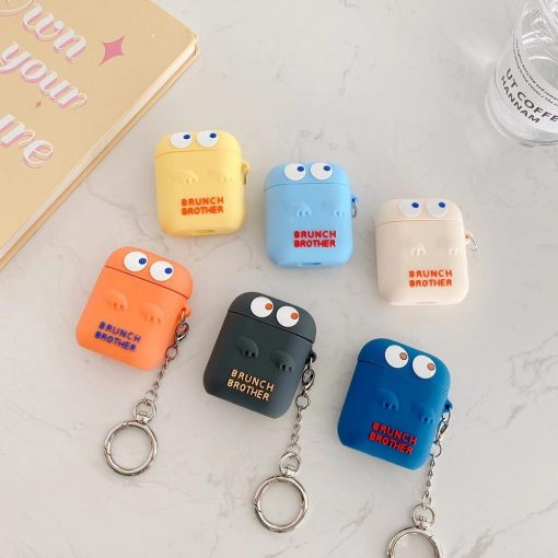Cute Silicone 'Brunch Brother' AirPods Case Shock Proof Cover