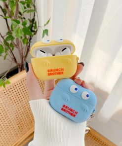 Cute Silicone 'Brunch Brother' AirPods Pro Case Shock Proof Cover