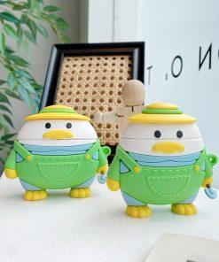 Cute Cartoon Gardener Duck Premium AirPods Case Shock Proof Cover