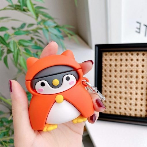 Cute Penguin in a Hooded Coat Premium AirPods Case Shock Proof Cover