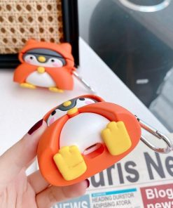 Cute Penguin in a Hooded Coat Premium AirPods Pro Case Shock Proof Cover