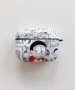 Doraemon 'Newspaper Comic' AirPods Pro Case Shock Proof Cover