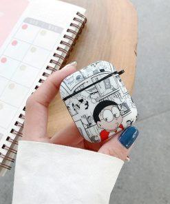 Doraemon 'Newspaper Comic' AirPods Case Shock Proof Cover