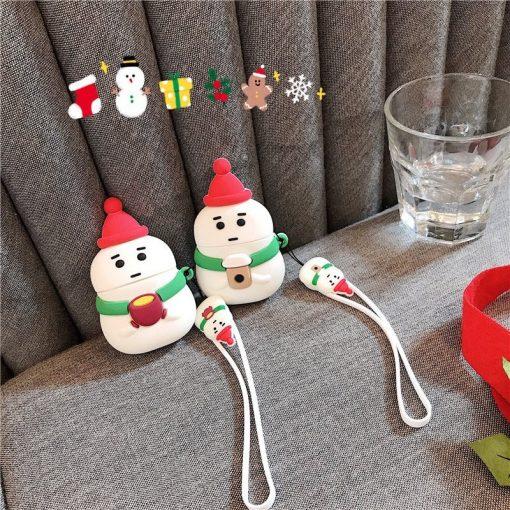 Cute Snowman 'Coffee | Tea' Premium AirPods Case Shock Proof Cover
