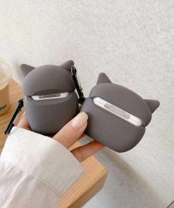 Cute Grey Owl Premium AirPods Case Shock Proof Cover