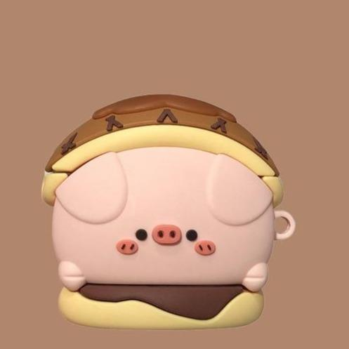 Cute Pig in a Donut Premium AirPods Case Shock Proof Cover