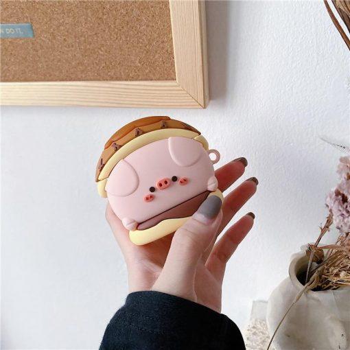 Cute Pig in a Donut Premium AirPods Pro Case Shock Proof Cover