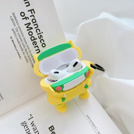 Cute Frog in a Raincoat Premium AirPods Pro Case Shock Proof Cover