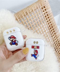 Super Mario Bros 'Coins' Clear Acrylic AirPods Case Shock Proof Cover
