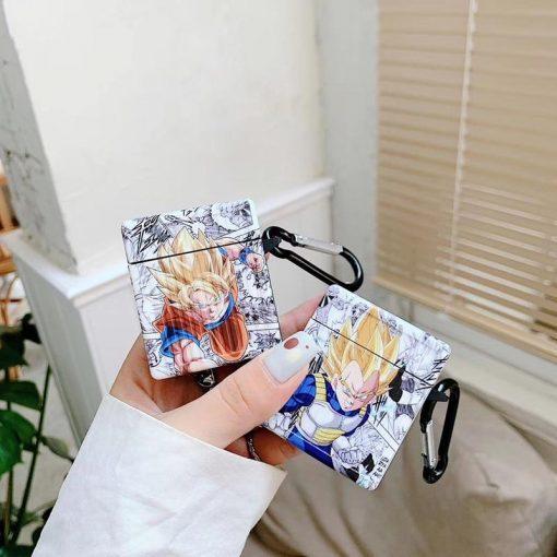 Dragon Ball Z 'Son Goku   Vegeta   Comic' AirPods Case Shock Proof Cover