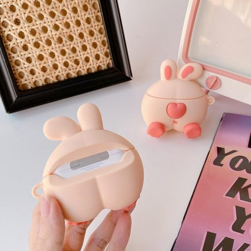 Cute Rabbit Butt Premium AirPods Case Shock Proof Cover