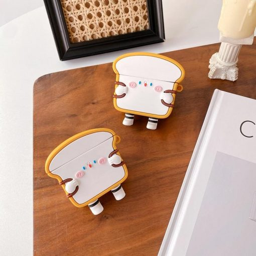 Cute Cartoon Bacon Bread with Backpack Premium AirPods Pro Case Shock Proof Cover