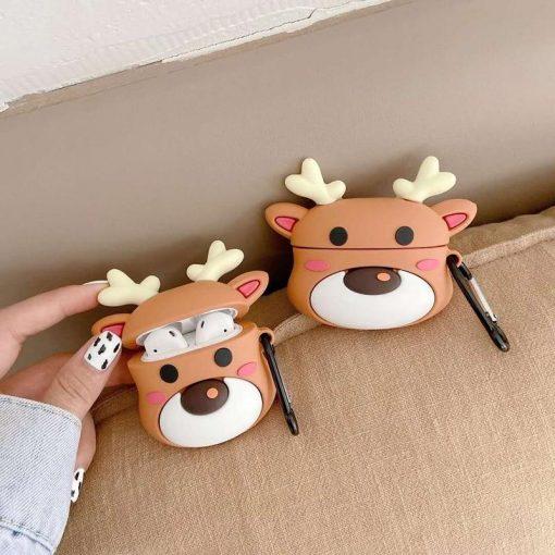 Cute Cartoon Deer Premium AirPods Case Shock Proof Cover
