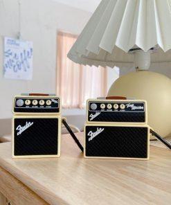 Fender Tone Master Vintage Guitar Amp Premium AirPods Case Shock Proof Cover