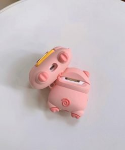 Cute Pig with a Bag of Chips Premium AirPods Pro Case Shock Proof Cover