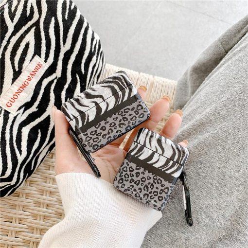 Leopard Zebra Pattern AirPods Case Shock Proof Cover