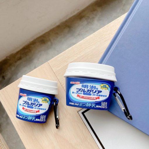 Japanese Meiji Milk Yogurt AirPods Case Shock Proof Cover