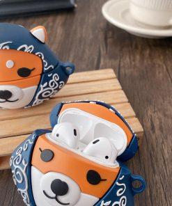 Cute Japanese Shiba Premium AirPods Case Shock Proof Cover