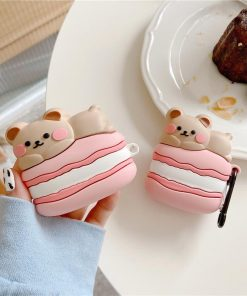 Cute Macaroon Bear Premium AirPods Pro Case Shock Proof Cover