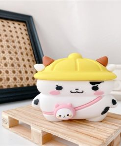 Cute Hard Hat Cow Premium AirPods Pro Case Shock Proof Cover