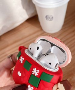Cute Christmas Pig Premium AirPods Case Shock Proof Cover