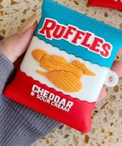 Ruffles Cheddar and Sour Cream Chips Premium AirPods Case Shock Proof Cover