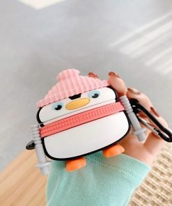 Cute Cross Country Skiing Penguin Premium AirPods Pro Case Shock Proof Cover