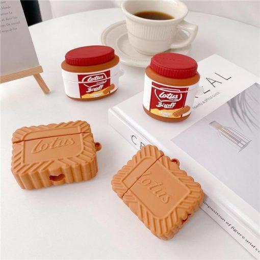 Lotus Caramel Cookie Premium AirPods Case Shock Proof Cover